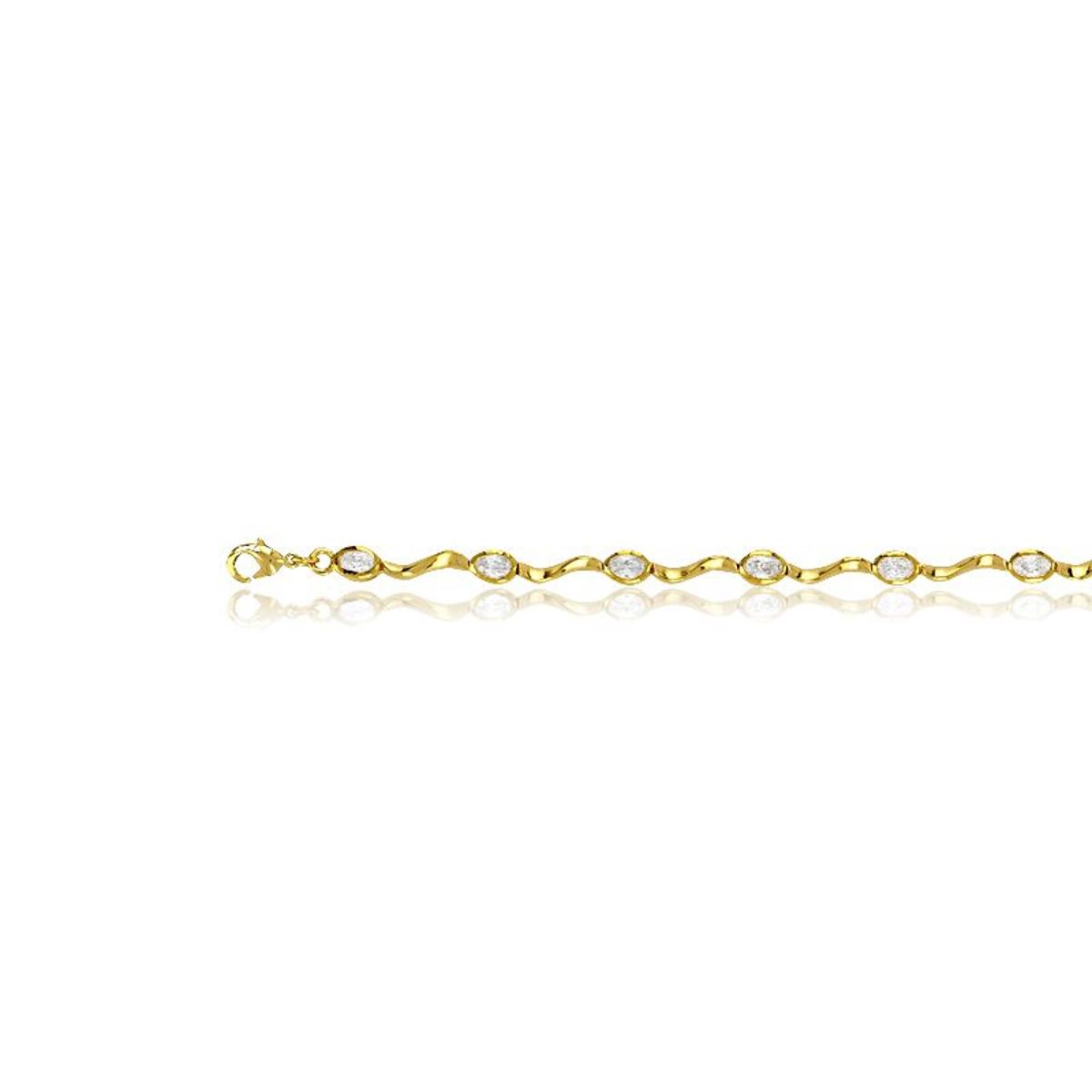Bracelet en Plaqué Or et Oxyde Blanc