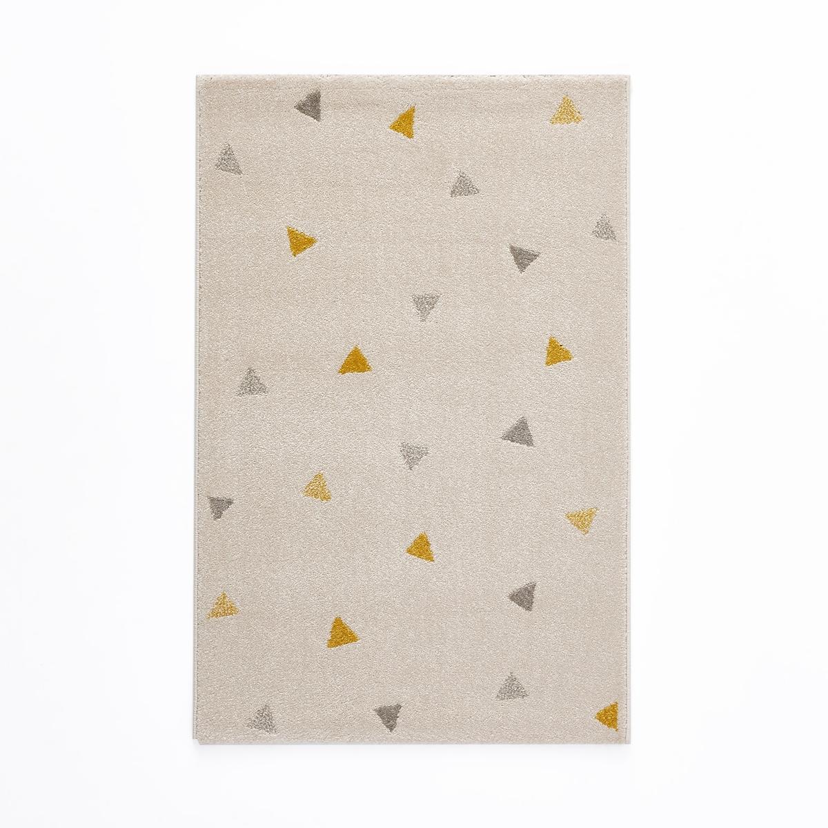 Ковер LaRedoute Для детской с рисунком треугольники Grafico 80 x 120 см бежевый