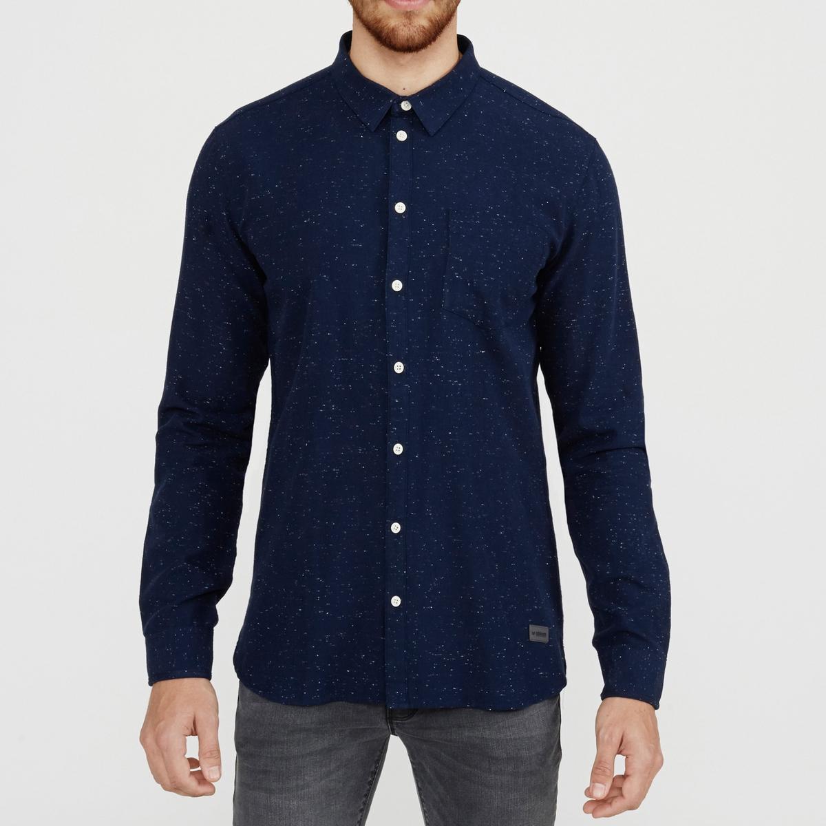 Рубашка Bronxwood зауженного покрояСостав и описаниеМатериал : 100% хлопка.Марка : MINIMUM.<br><br>Цвет: синий<br>Размер: L