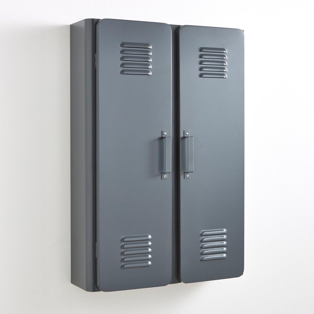 Шкаф для ванной,  HibaЭтот маленький металлический шкаф Hiba, выполнен в индустриальном стиле . Прекрасное дополнение к основной мебели, этот шкаф будет полезен в ванной, прихожей, детской или даже в рабочем кабинете .Описание маленького шкафа Hiba :2 дверцы с декоративными щелями .2 внутренние полки .Характеристики маленького шкафа Hiba :Из металла с эпоксидным покрытием .Металлические ручки .Найдите всю коллекцию Hiba на нашем сайте ..Размеры маленького шкафа Hiba :Общие :Длина : 45 см Высота : 65 смГлубина : 14 смВнутри :Длина : 38 смВысота : 19,7 смГлубина : 10,8 смРазмер и вес с упаковкой :1 упаковка77 x 51 x 17 см, 8,25 кгДоставка :Шкаф Hiba продается готовым к сборке . Доставка вешалки осуществляется до квартиры !Внимание ! Убедитесь, что посылку возможно доставить на дом, учитывая ее габариты.:.<br><br>Цвет: антрацит