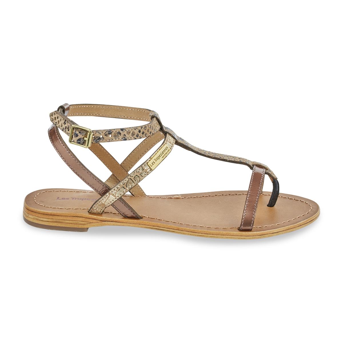 zapatillas Sandalias de piel con tira entre los dedos Baie