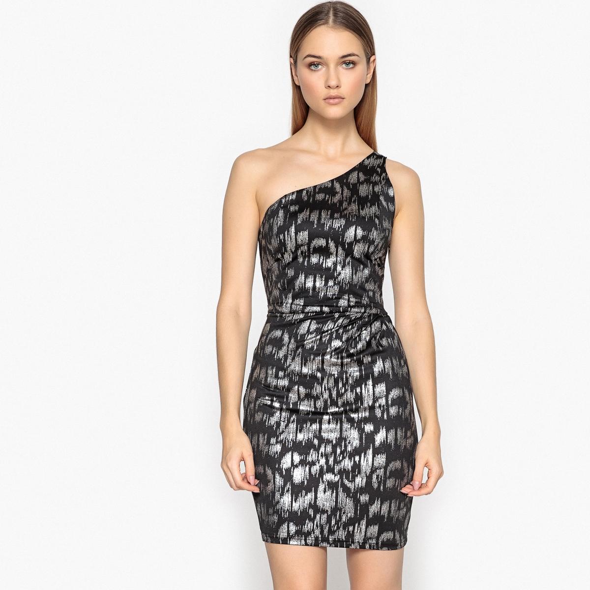 Платье-бюстье асимметричное