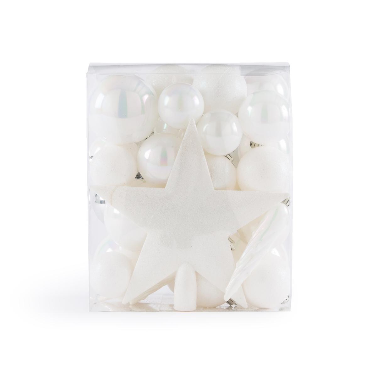 Набор La Redoute Из новогодних украшений белого цвета Caspar единый размер белый набор новогодних подвесных украшений b