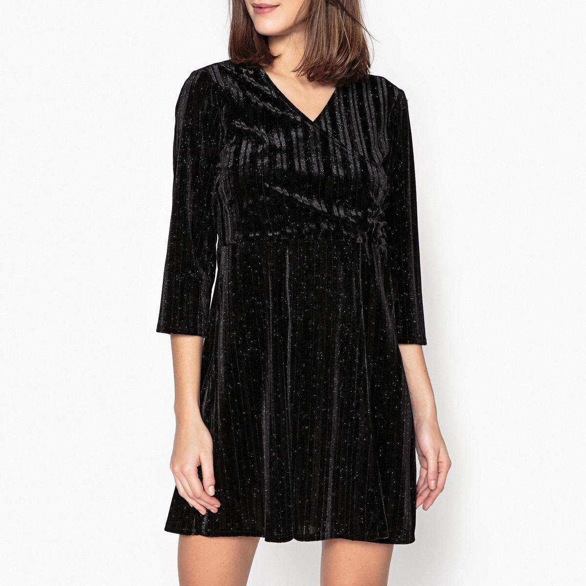 Платье велюровое блестящее средней длины FRIMER от La Redoute