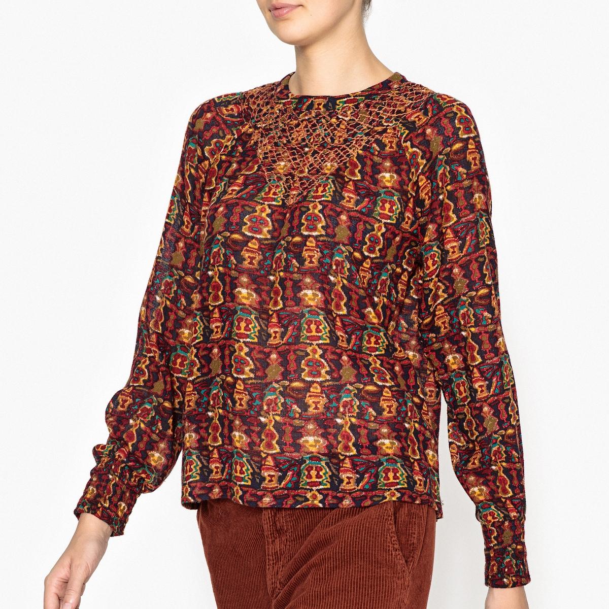 цена Блузка с рисунком MERYS BLOUSE онлайн в 2017 году