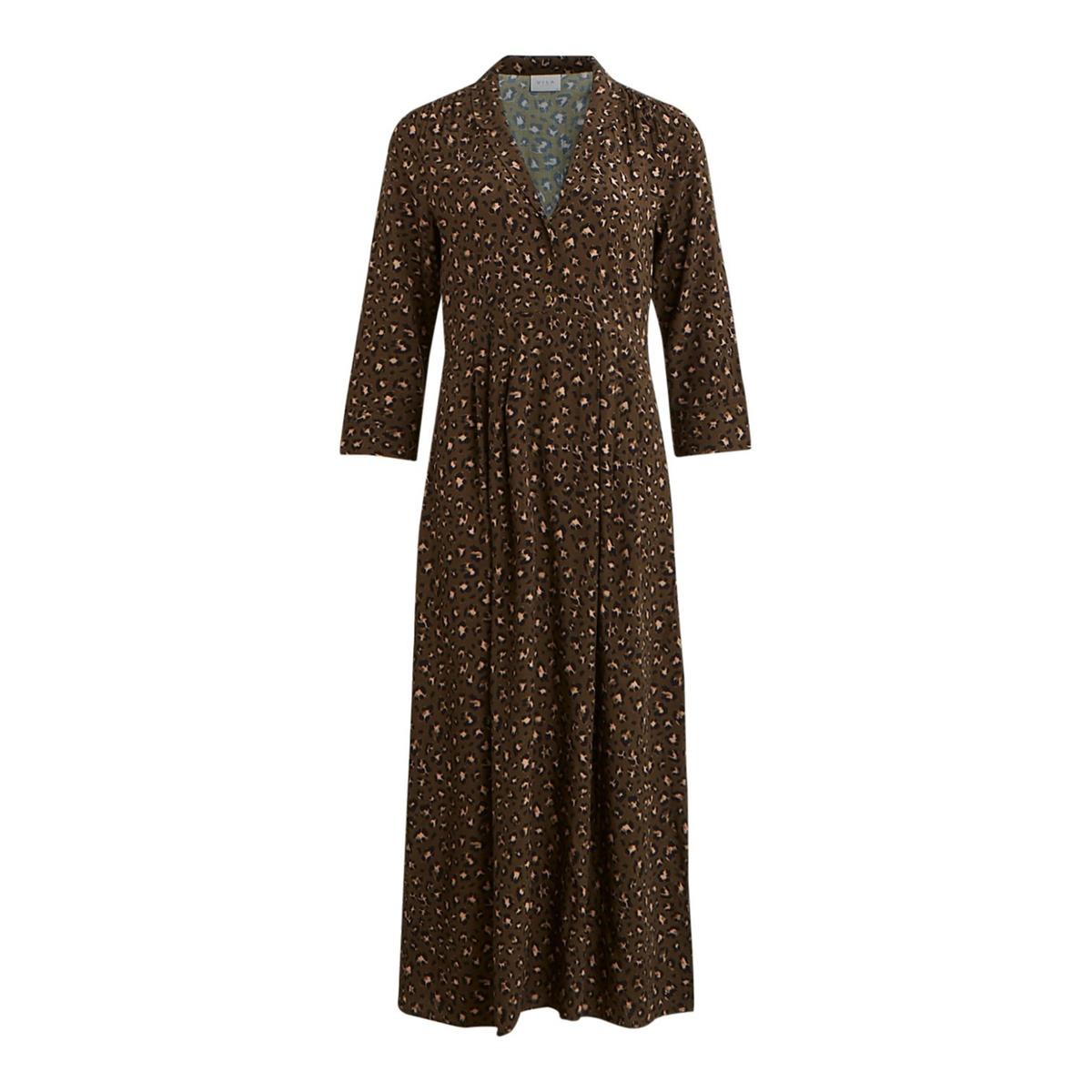 Платье La Redoute Длинное с леопардовым принтом 34 (FR) - 40 (RUS) зеленый куртка la redoute легкая укороченная с леопардовым принтом 34 fr 40 rus другие