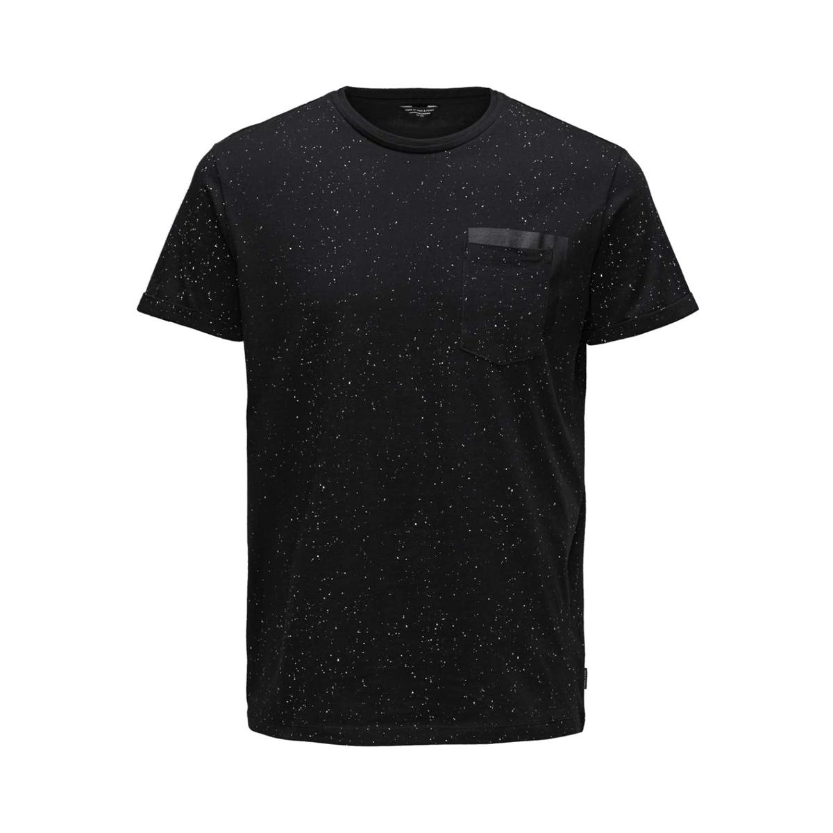 Футболка JJCOROSS из ткани меланжКороткие рукава- Прямой покрой- Круглый вырез- 1 карман на груди Состав и описание :Основной материал : 100% хлопокМарка :  JACK &amp; JONES®Уход :Следуйте рекомендациям, указанным на этикетке изделия.<br><br>Цвет: темно-синий,черный<br>Размер: S.S