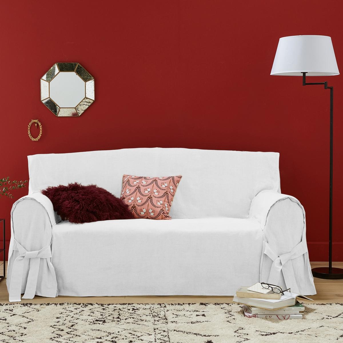 Чехол La Redoute Для дивана 2 места белый