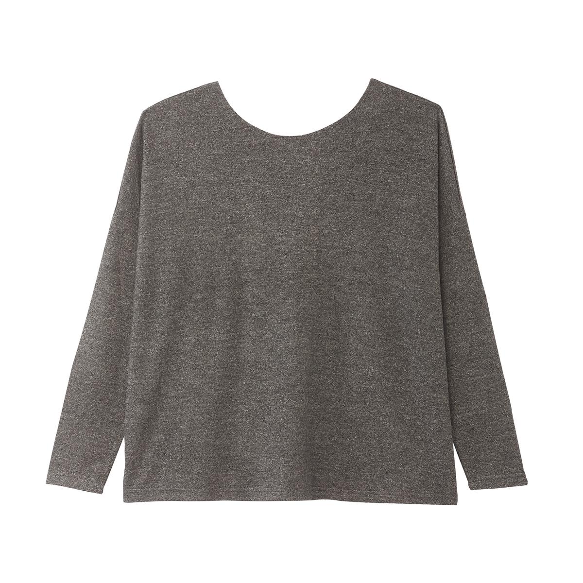 Пуловер La Redoute С круглым вырезом из тонкого трикотажа перекрещенная спинка M серый пуловер la redoute с круглым вырезом из тонкого трикотажа m красный