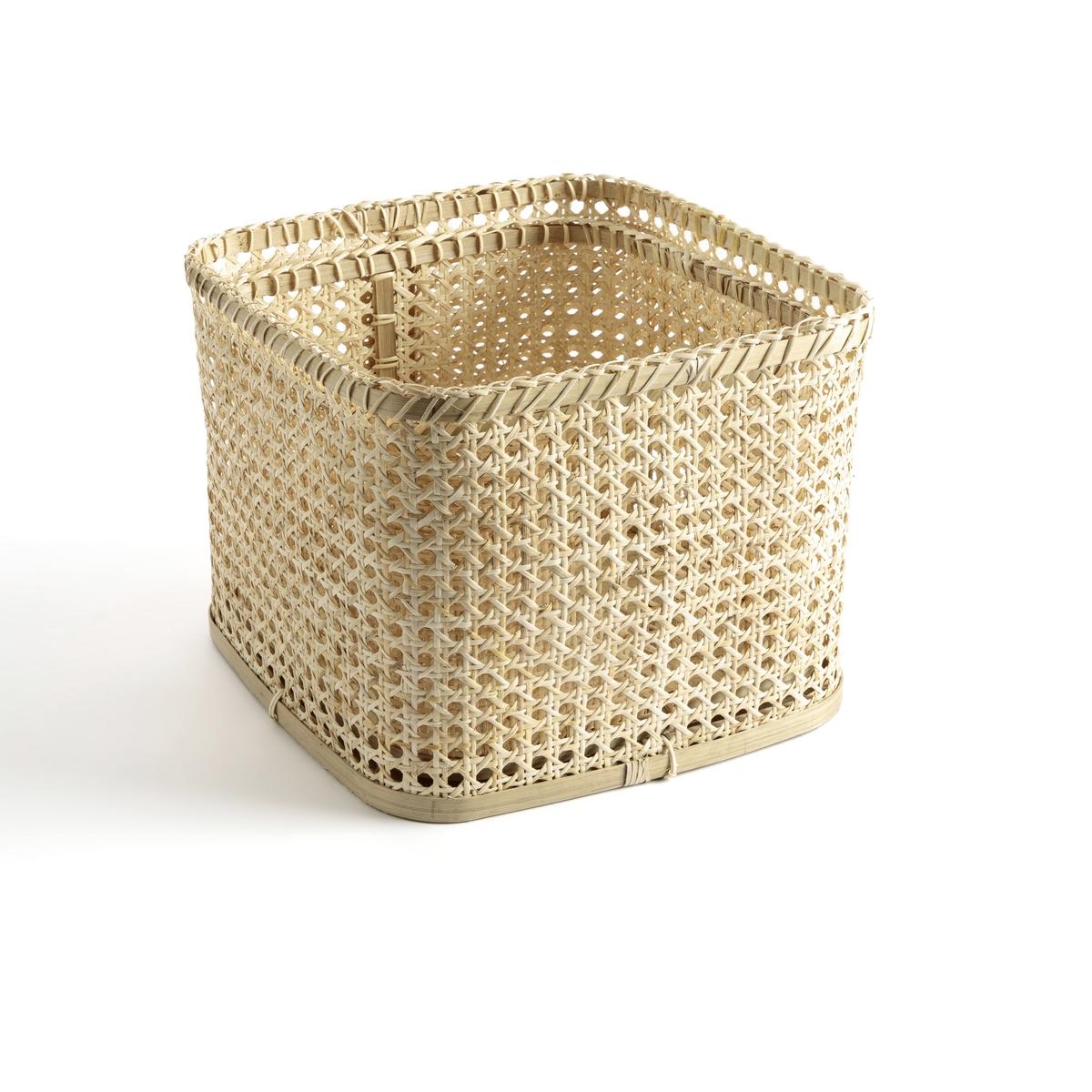 Комплект из высоких корзин La Redoute Tobi единый размер бежевый поднос la redoute из ротанга vesprie единый размер бежевый