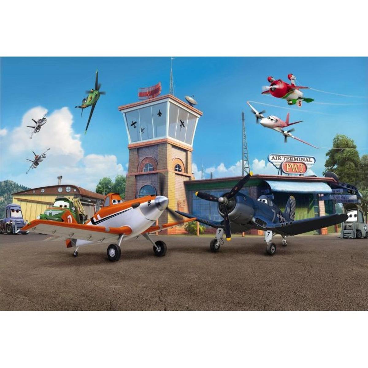 Papier peint Planes Aéroport Disney Pixar 368X254 CM
