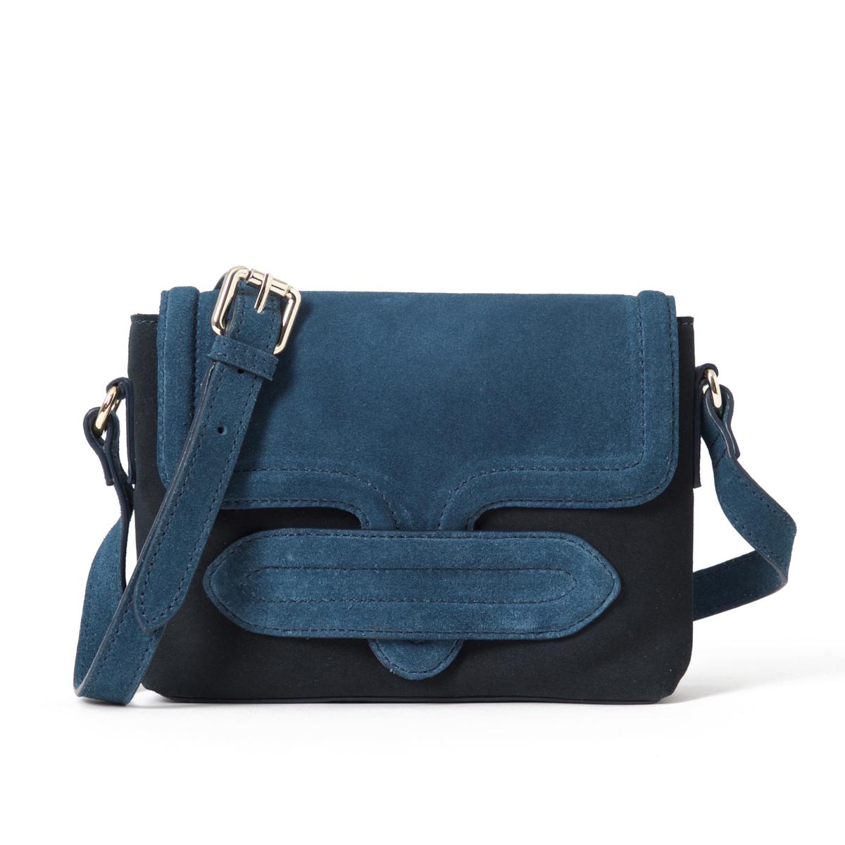 Клатч из невыделанной кожи, двухцветныйОписание:Очаровательная сумка-клатч из мягкой невыделанной кожи, стильный и оригинальный дизайн.Состав и описание : Материал : верх из невыделанной яловичной кожи             подкладка из текстиляРазмеры : L22XH17XP4 см Застежка : кнопка на магните 1 карман на молнииНесъемный регулируемый ремешок<br><br>Цвет: темно-синий/ синий,черный/ хаки<br>Размер: единый размер
