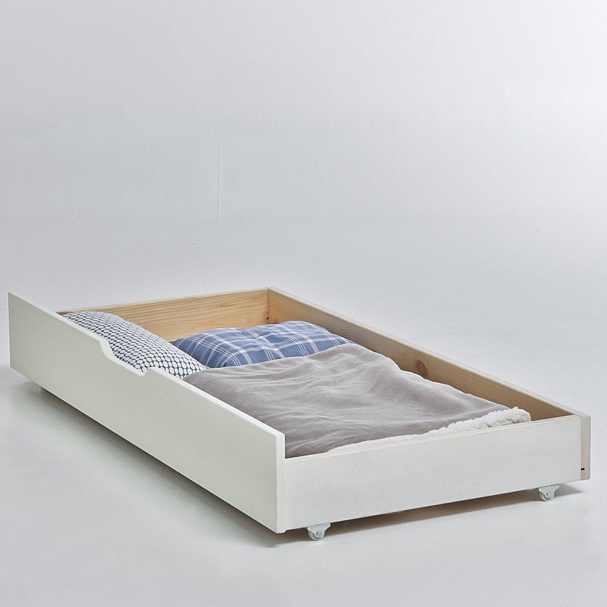 Ящик для хранения под кроватью, ToudouХарактеристики выдвижного ящика Toudou:Сосна, покрытие акриловой краской.Дно ящика из фибролитовой плиты.Раздвижная кровать Toudou также представлена на сайте laredoute.ruКачество:Наша продукция соответствует действующим нормам безопасности.Размеры выдвижного ящика Toudou:Общие:Длина: 130 см.Высота: 18 см.Глубина: 62 см.Размеры и вес коробки:1 коробкаД. 146 x В. 6 x Г. 32 см9 кг.Доставка:Данная модель требует самостоятельной сборки. Доставка осуществляется до квартиры по предварительной договоренности!Внимание! Убедитесь в том, что посылку возможно доставить на дом, учитывая ее габариты.С 1 мая 2013 года мы участвуем в эко-программе по утилизации старой мебели.Все собранные в итоге средства будут направлены организациям, занимающимся скупкой, переработкой и дальнейшим использованием старой мебели.<br><br>Цвет: белый,светлое дерево,серый