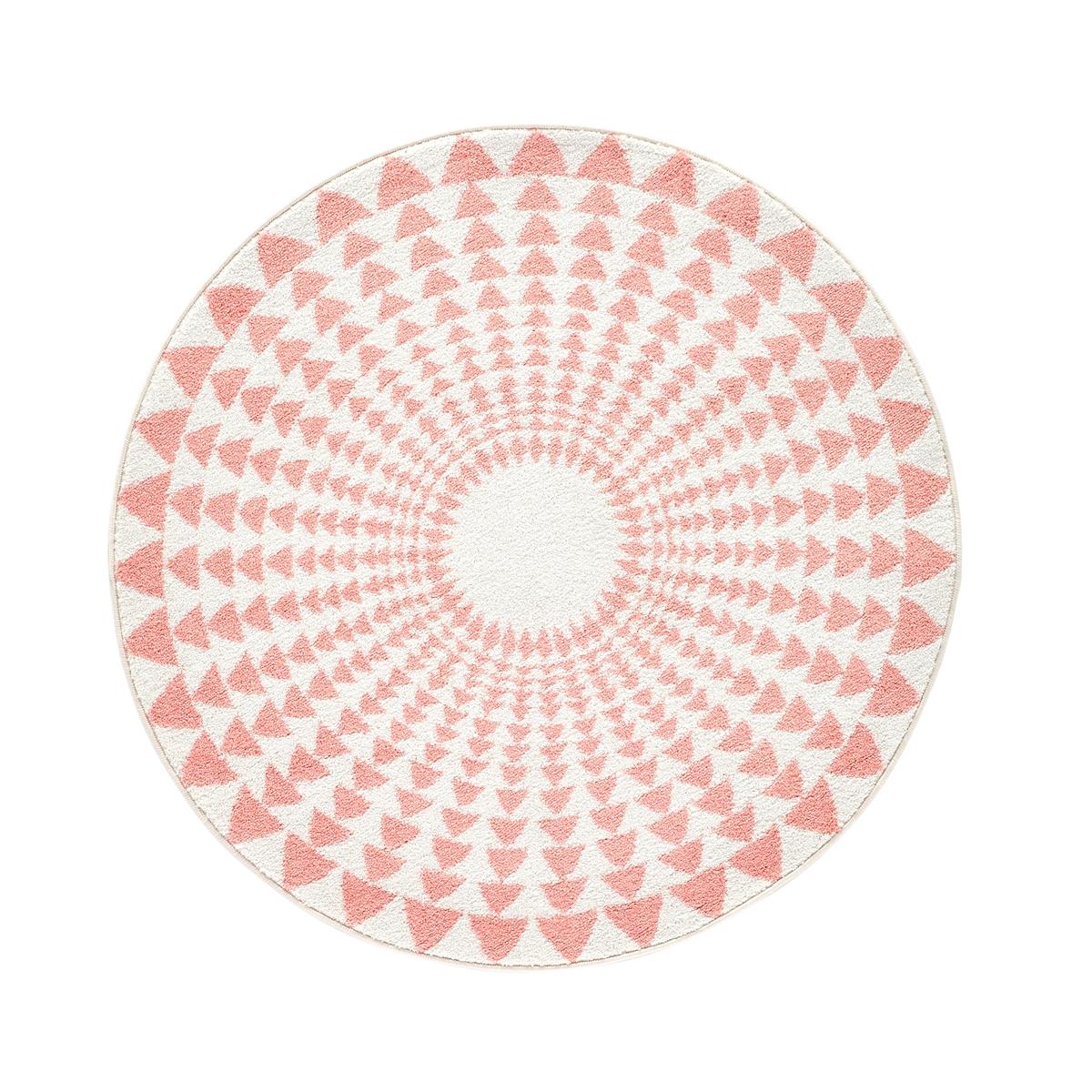 Ковер La Redoute Круглый детский Teed с рисунком треугольники диаметр 120 см белый ковер la redoute горизонтального плетения с рисунком цементная плитка iswik 120 x 170 см бежевый