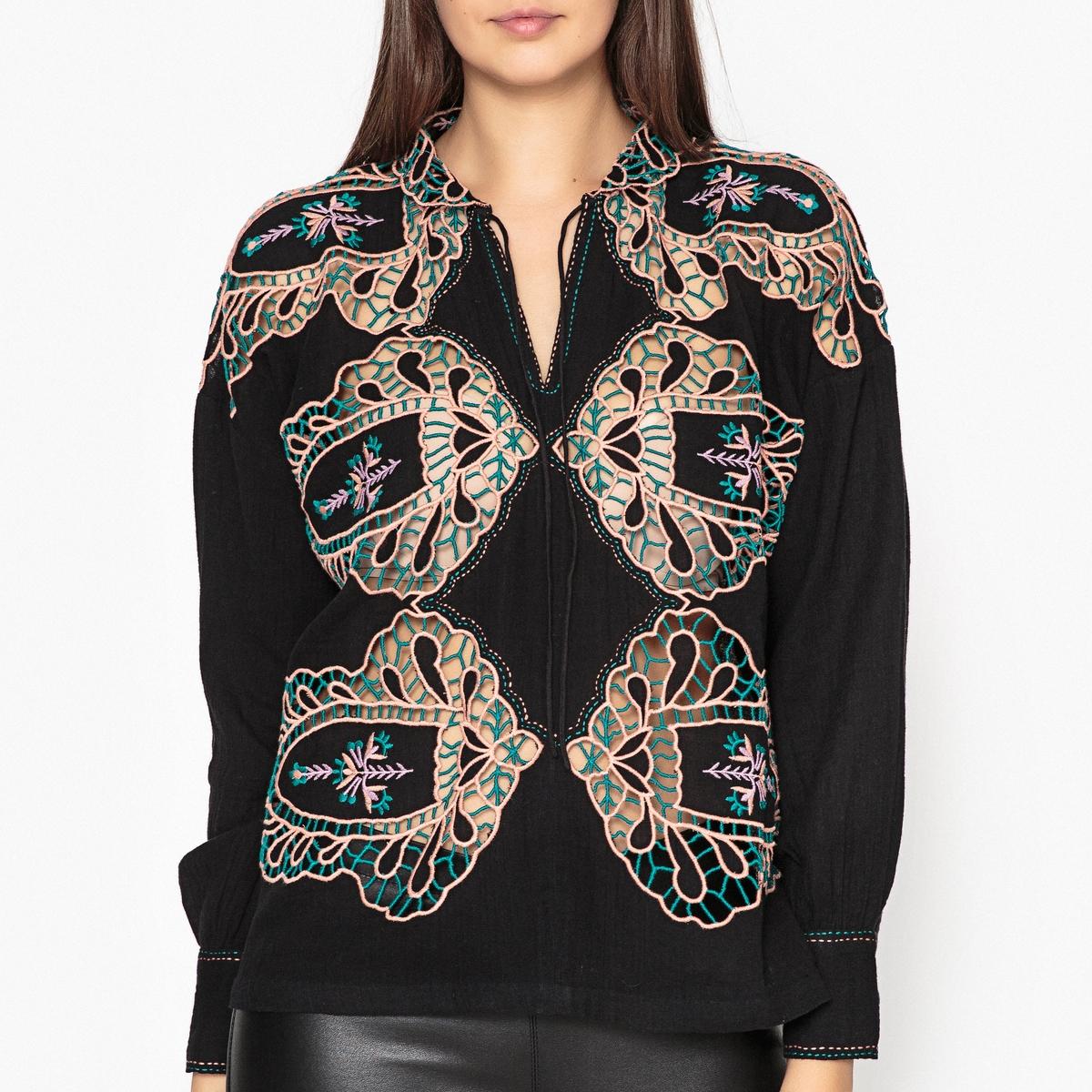 цена Блузка с вышивкой PAULA SHIRT онлайн в 2017 году