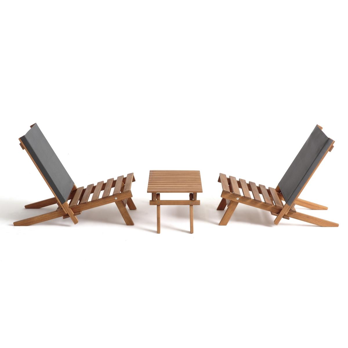 Комплект для сада из 3 предметов из акации Oparon