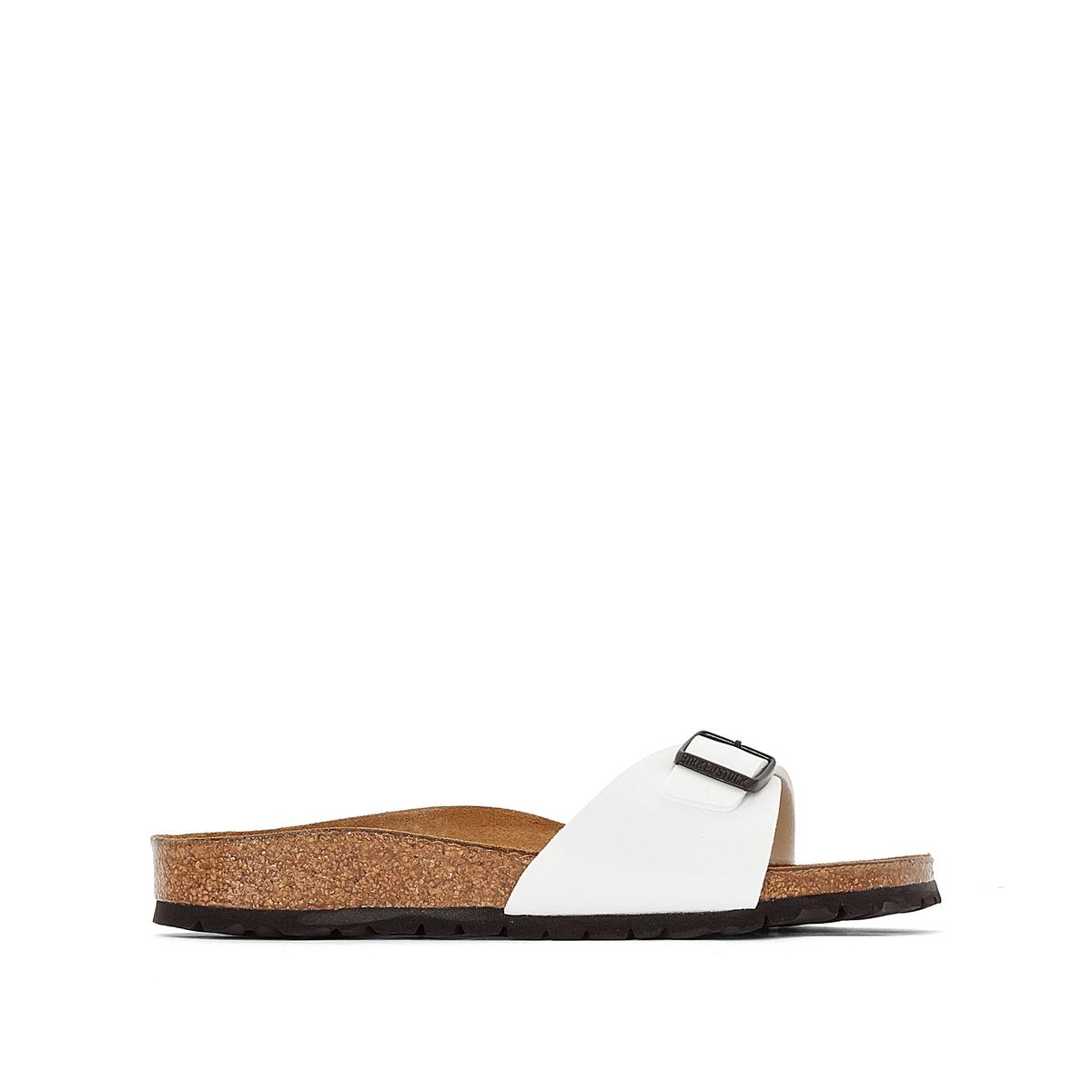Туфли без задника синтетическиеДетали  •  Вьетнамки •  Застежка : без застежки •  Открытый мысокСостав и уход  •  Верх 100% другие волокна •  Подкладка 100% других волокон<br><br>Цвет: белый лак<br>Размер: 37