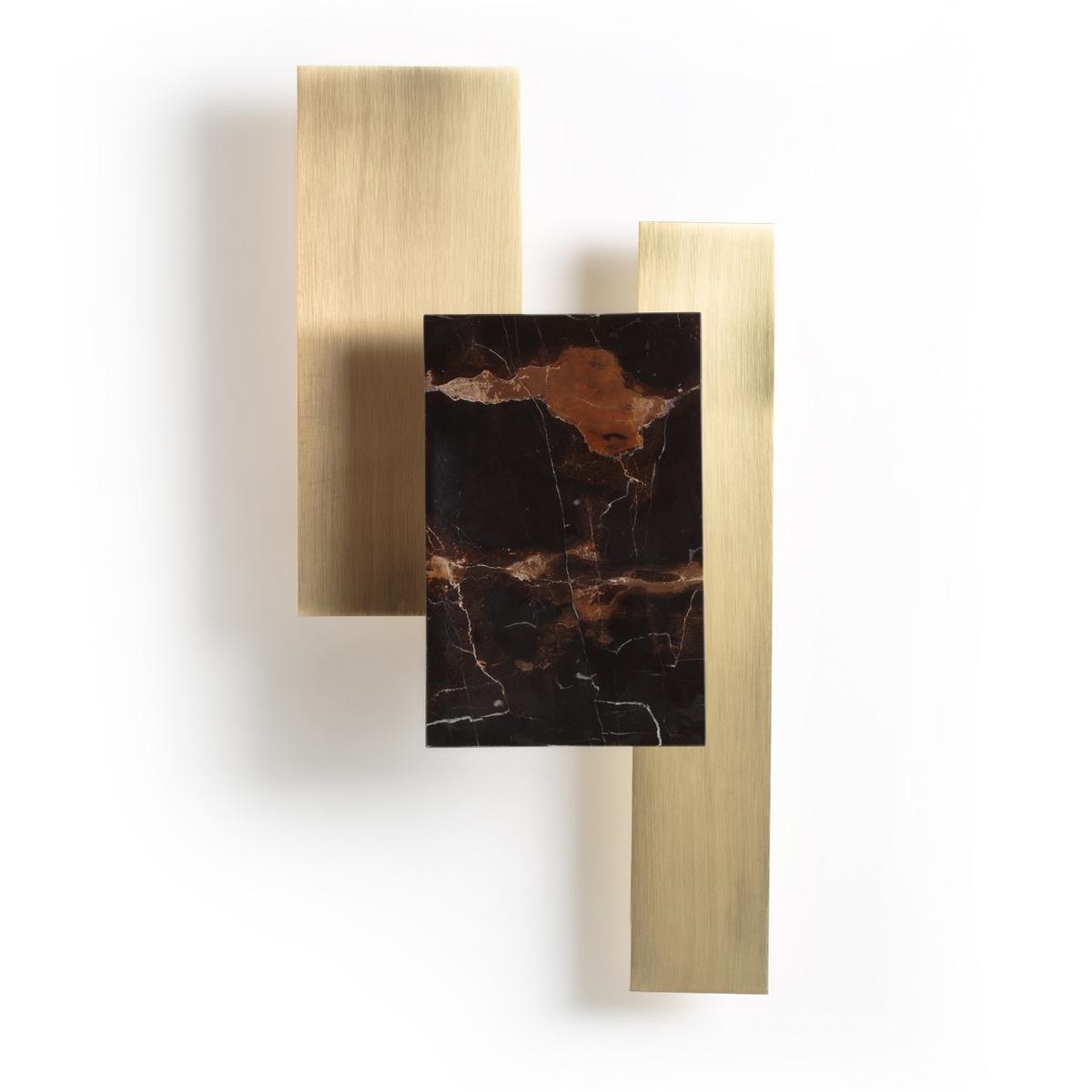 Applique in marmo ambra e ottone Portson