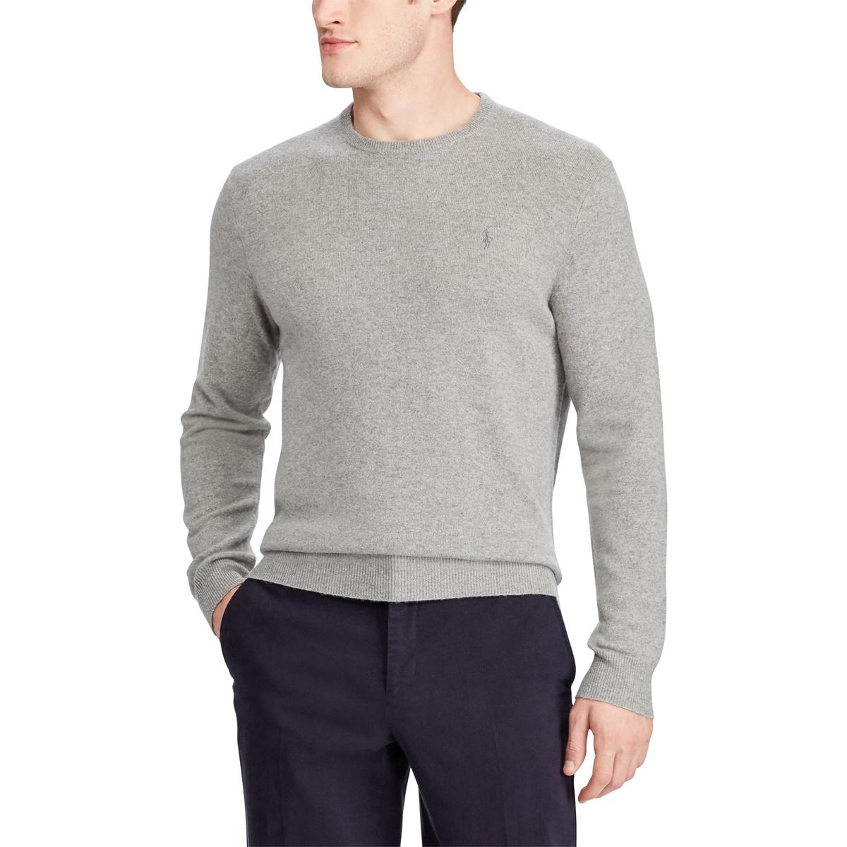 Пуловер La Redoute С круглым вырезом из шерсти S серый пуловер la redoute с круглым вырезом из шерсти мериноса pascal 3xl черный