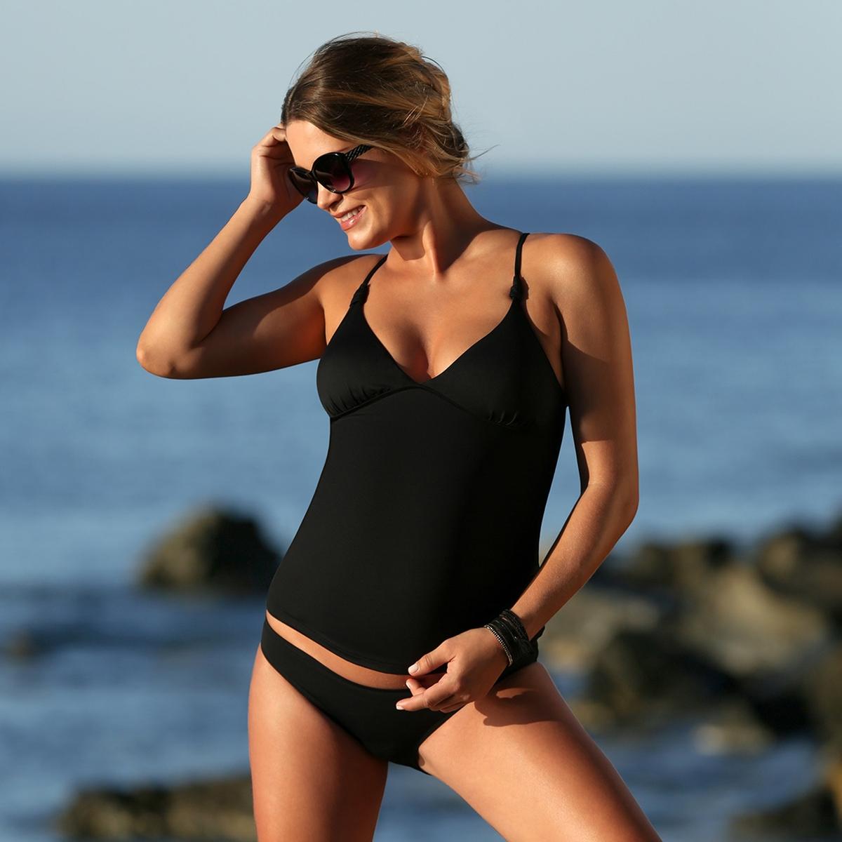 Купальник-танкини La Redoute Раздельный для периода беременности Maori 40 (FR) - 46 (RUS) черный раздельный женский купальник barbara
