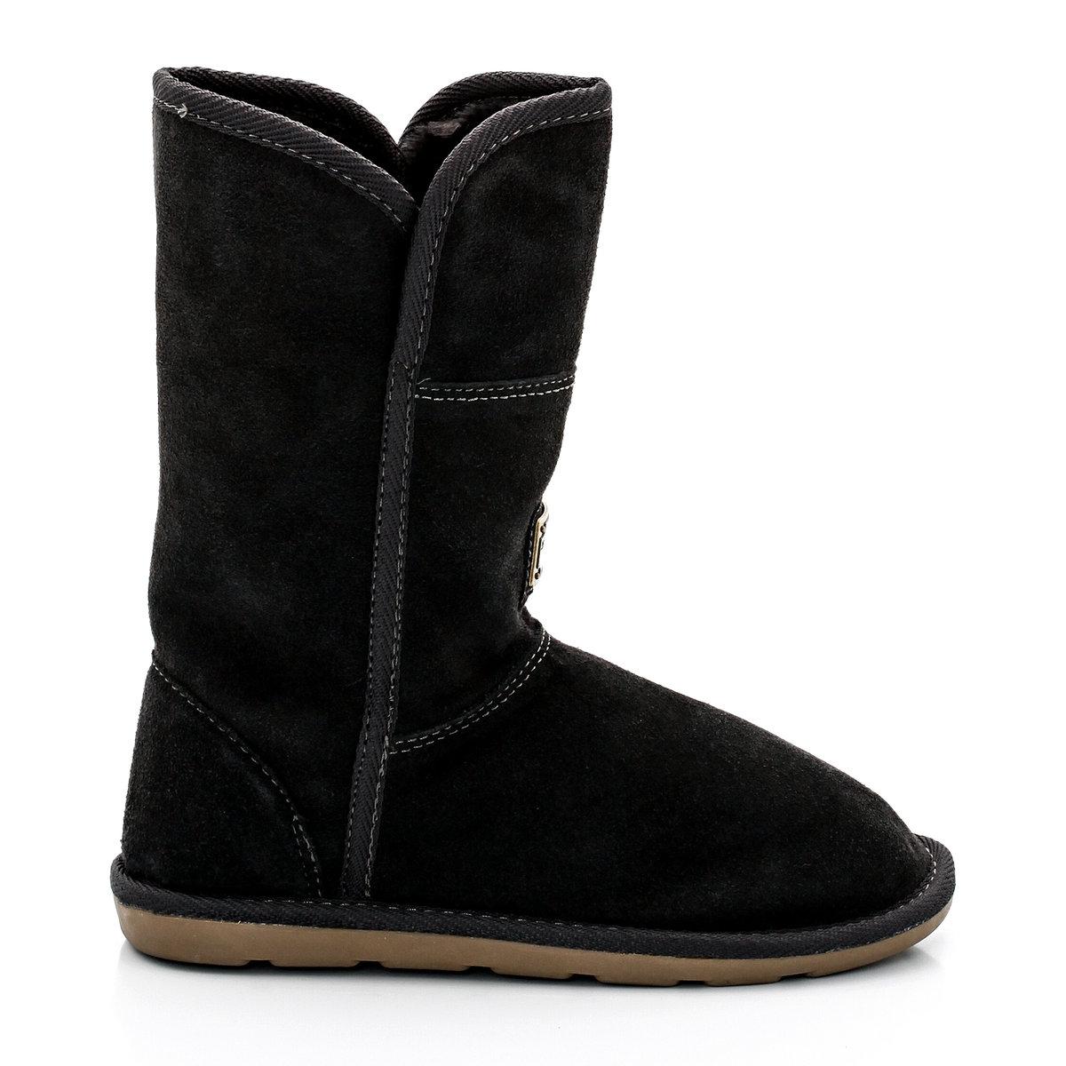 Сапоги Arctique из кожи с меховой отделкойЛегко носить, легко надевать: модные сапоги Arctique  - стильная защита детских ног!<br><br>Цвет: серый<br>Размер: 30