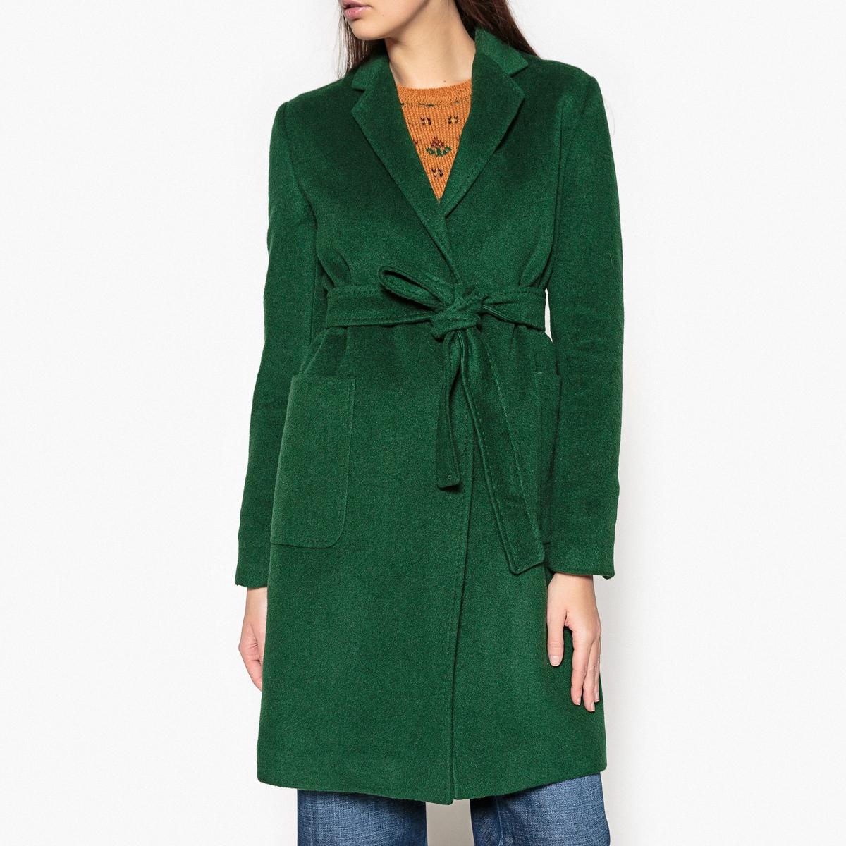 Пальто длинное с поясом CARMEN пальто двухцветное с поясом 70% шерсти