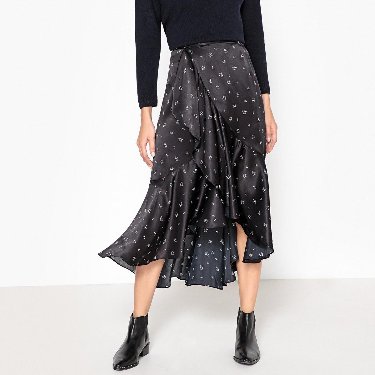 Юбка с запахом из шелка iya yots iya yots юбка из шелка 150212