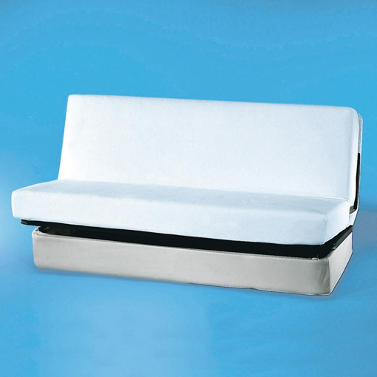 Защитный чехол из эластичной губчатой ткани для складного матрасаУдобный защитный чехол из эластичной губчатой ткани впитывает влагу, выделяемую телом во время сна и защищает Ваше постельное бельё от пятен, бактерий и клещей..Нежная и долговечная клеёнка из мягкой губчатой ткани для складного матраса80% хлопка, 20% полиэстера, 170г/м?.Легко растягивается по размеру матраса.Ширина 120/130, длина 190 см. Стирка при 60°.<br><br>Цвет: белый