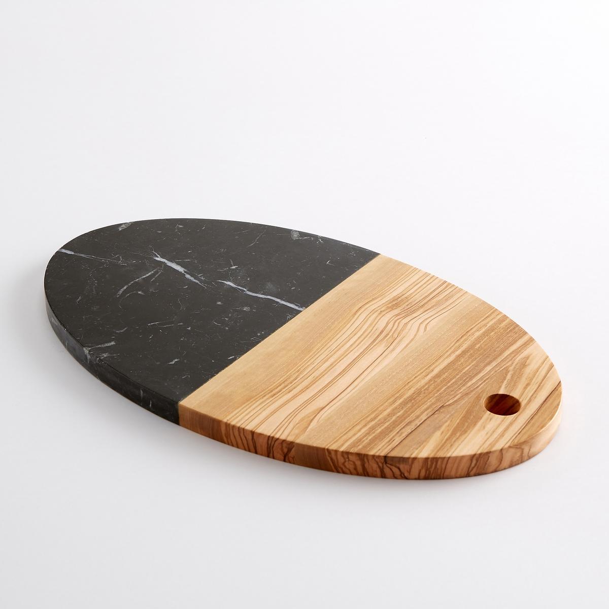 Разделочная доска из древесины и мрамора, чернаяМинимализм дизайна и элегантность комбинированного материала: Эта эстетичная и в то же время практичная доска займет достойное место на любой современной кухне.Характеристики разделочной доски из древесины и мрамора:Оливковое дерево и черный мрамор.Размеры разделочной доски из древесины и мрамора:35,6 x 20,3 x В1,5 см.Больше досок и другие товары для кухни на сайте laredoute.ru<br><br>Цвет: экрю/ черный