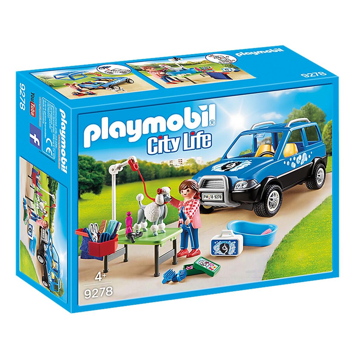 An image of Playmobil Dog Grooming Vehicle 9278