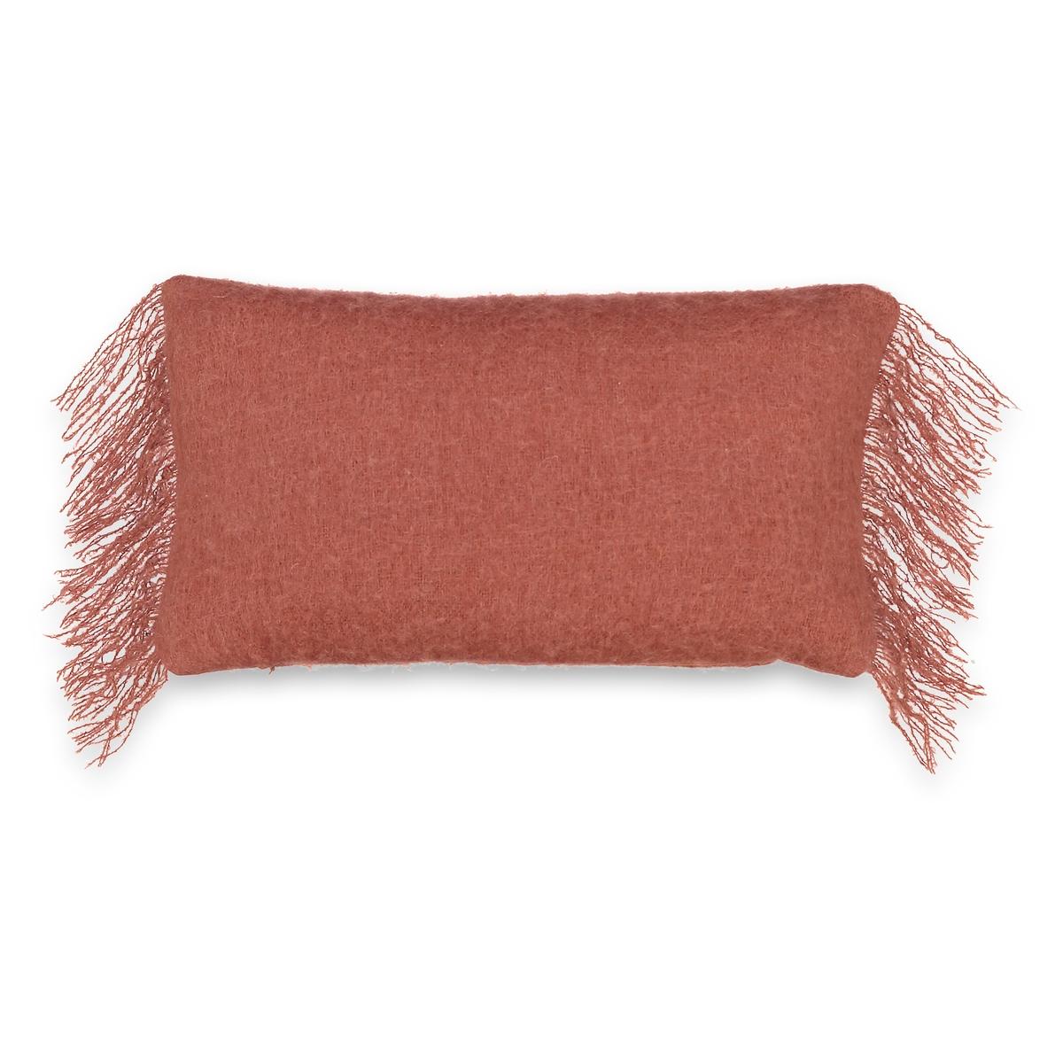 Чехол на подушку-валик TasunaМягкий и изящный чехол на подушку-валик Tasuna. Отделка бахромой с каждой стороны. Скрытая застежка на молнию.Материал :- 10% мохера, 10% нейлона, 30% шерсти, 50% акрила. Размеры :- 50 x 30 см.<br><br>Цвет: антрацит,бледный сине-зеленый,красно-коричневый,серый серебристый