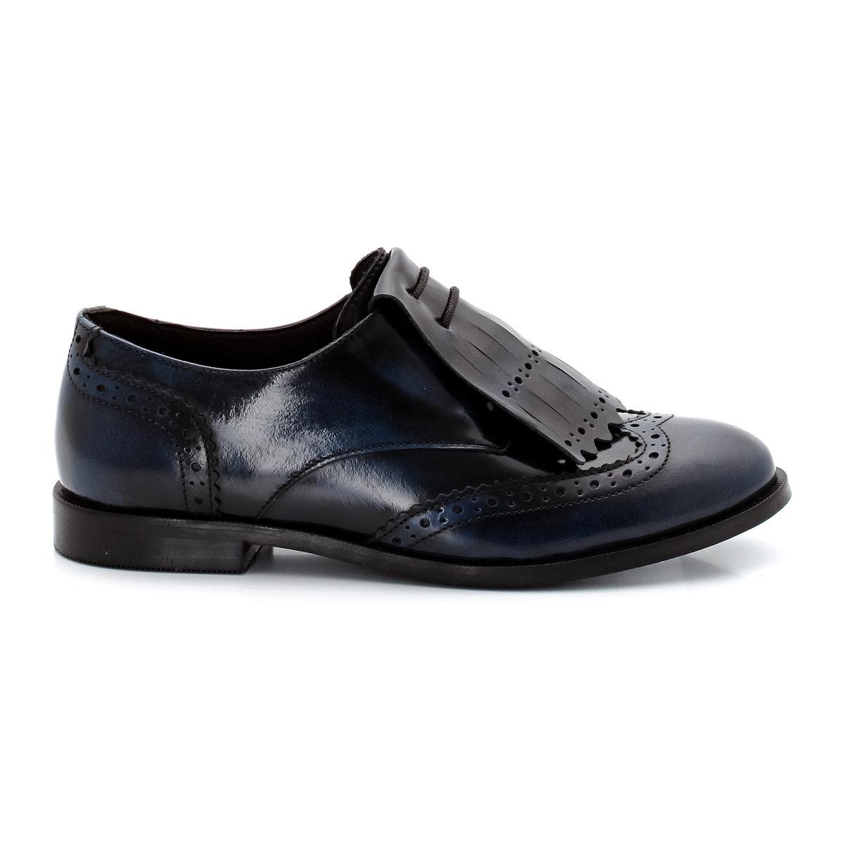 Ботинки-дерби из кожи с бахромой