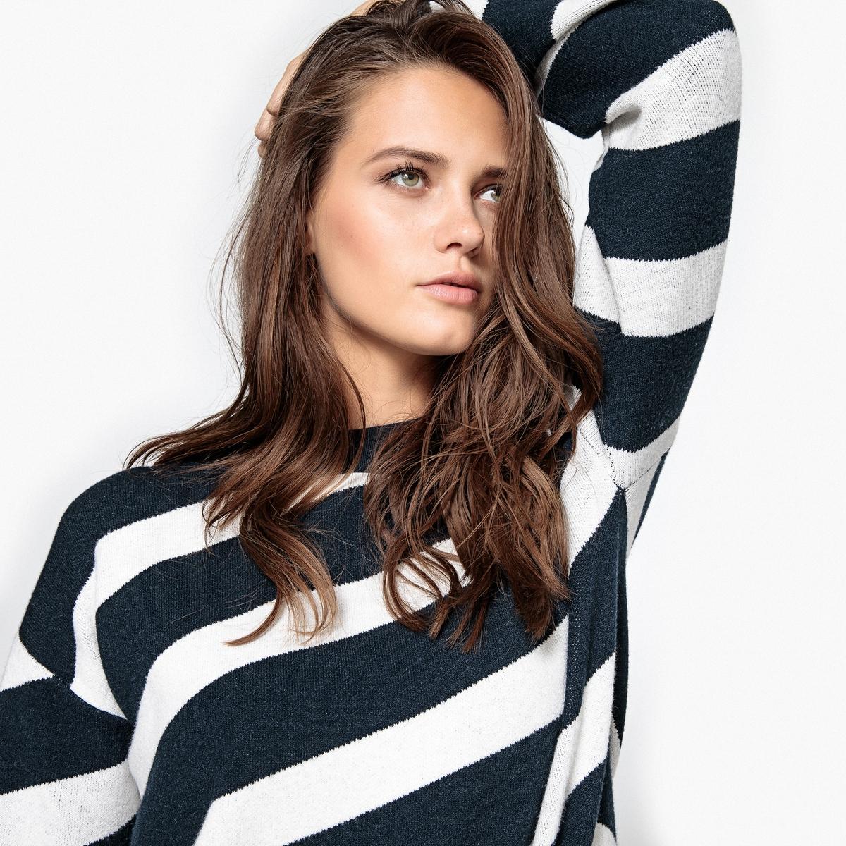 Пуловер короткий из вискозы
