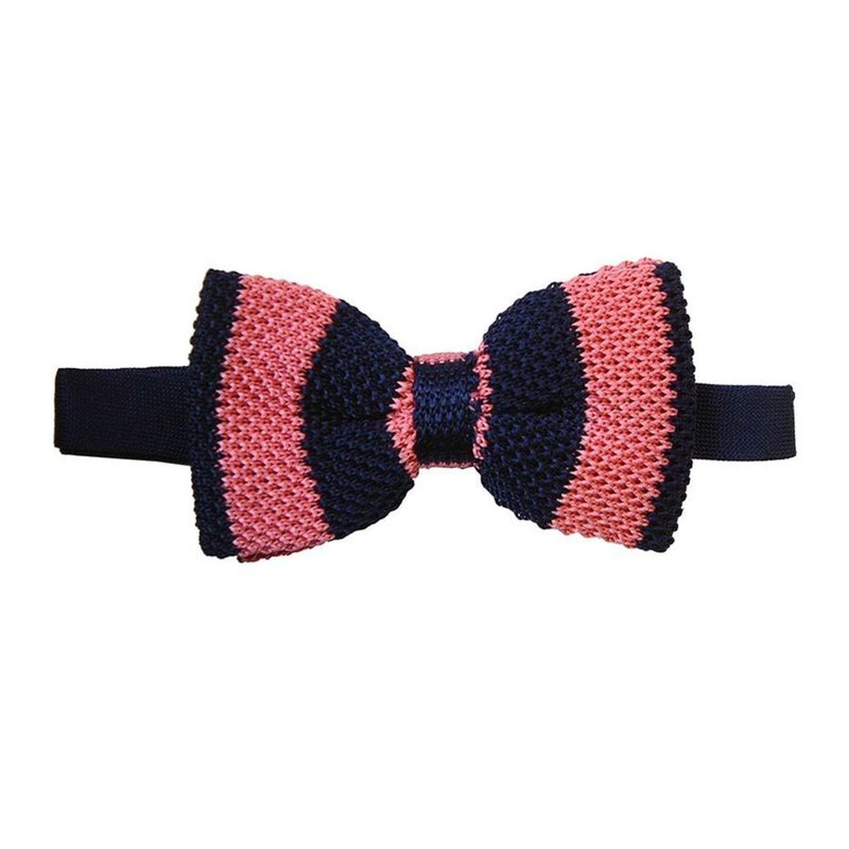 Noeud papillon tricot Gentleman club. Soie Club / rayé