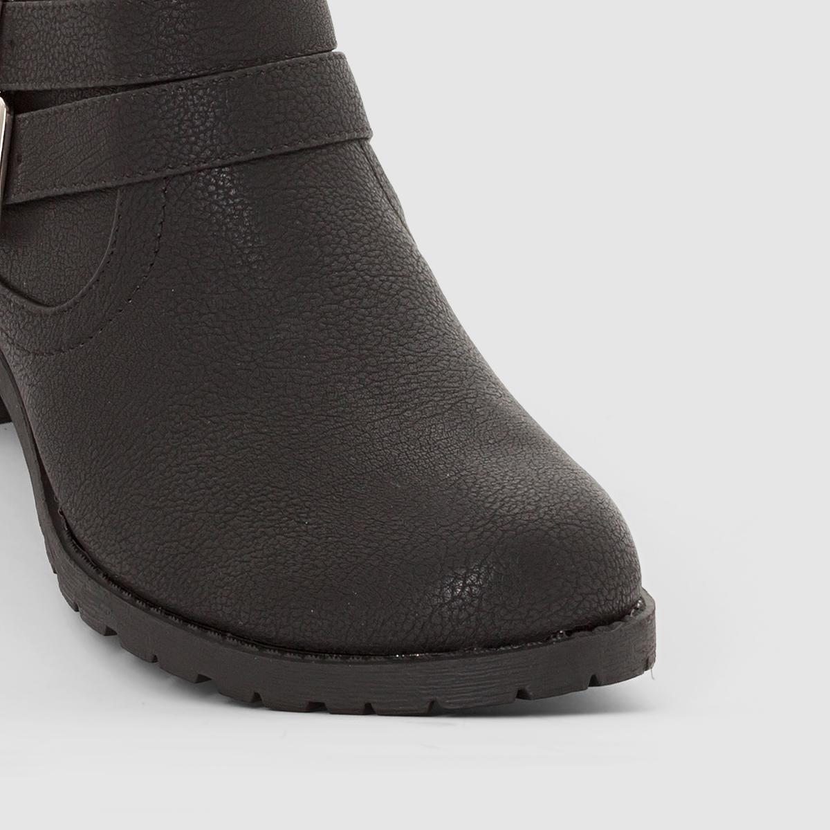 Ботильоны синтетические на широкую ногу, размеры 38-45