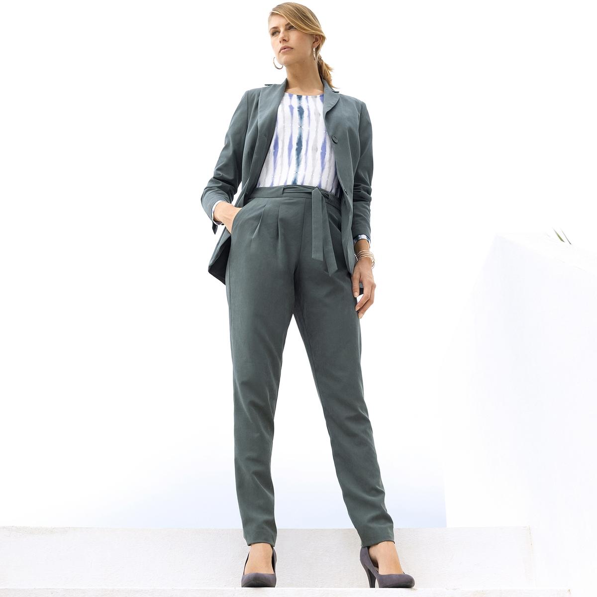 Imagen adicional 2 de producto de Pantalón recto y vaporoso, de microfibra - Anne weyburn