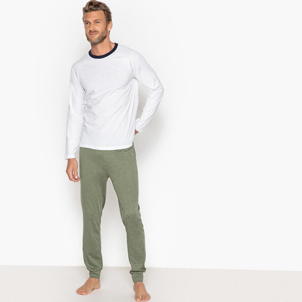 Pijama de 2 peças, mangas compridas