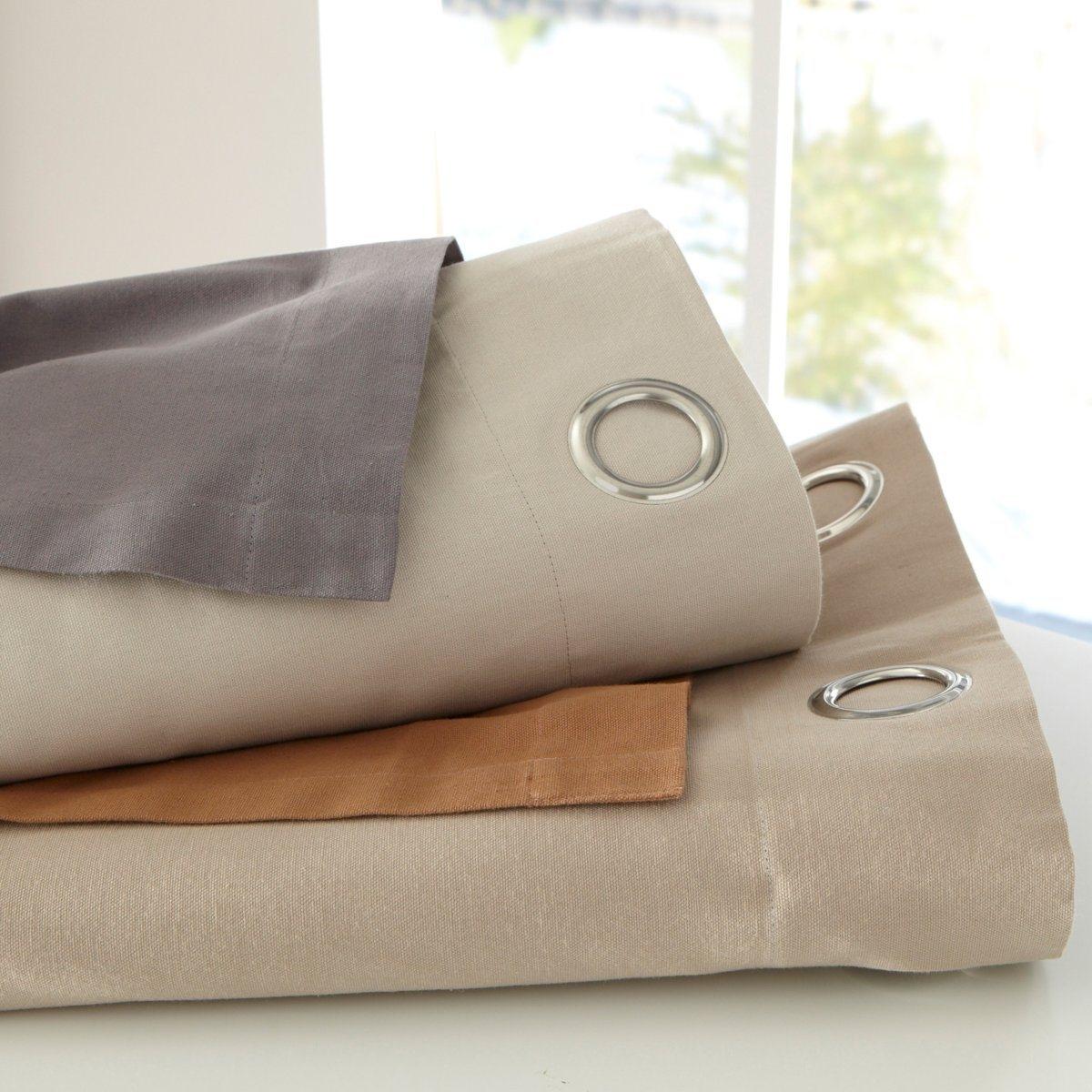 Image of Aguri Two-Tone Cotton Single Eyelet Curtain