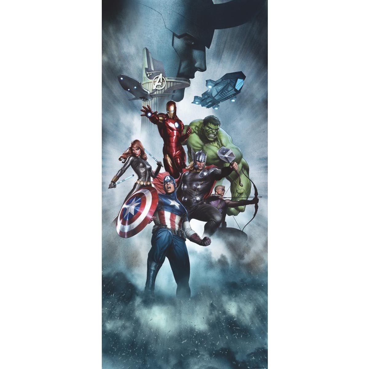 Poster porte Team Avengers Marvel 90X202 CM