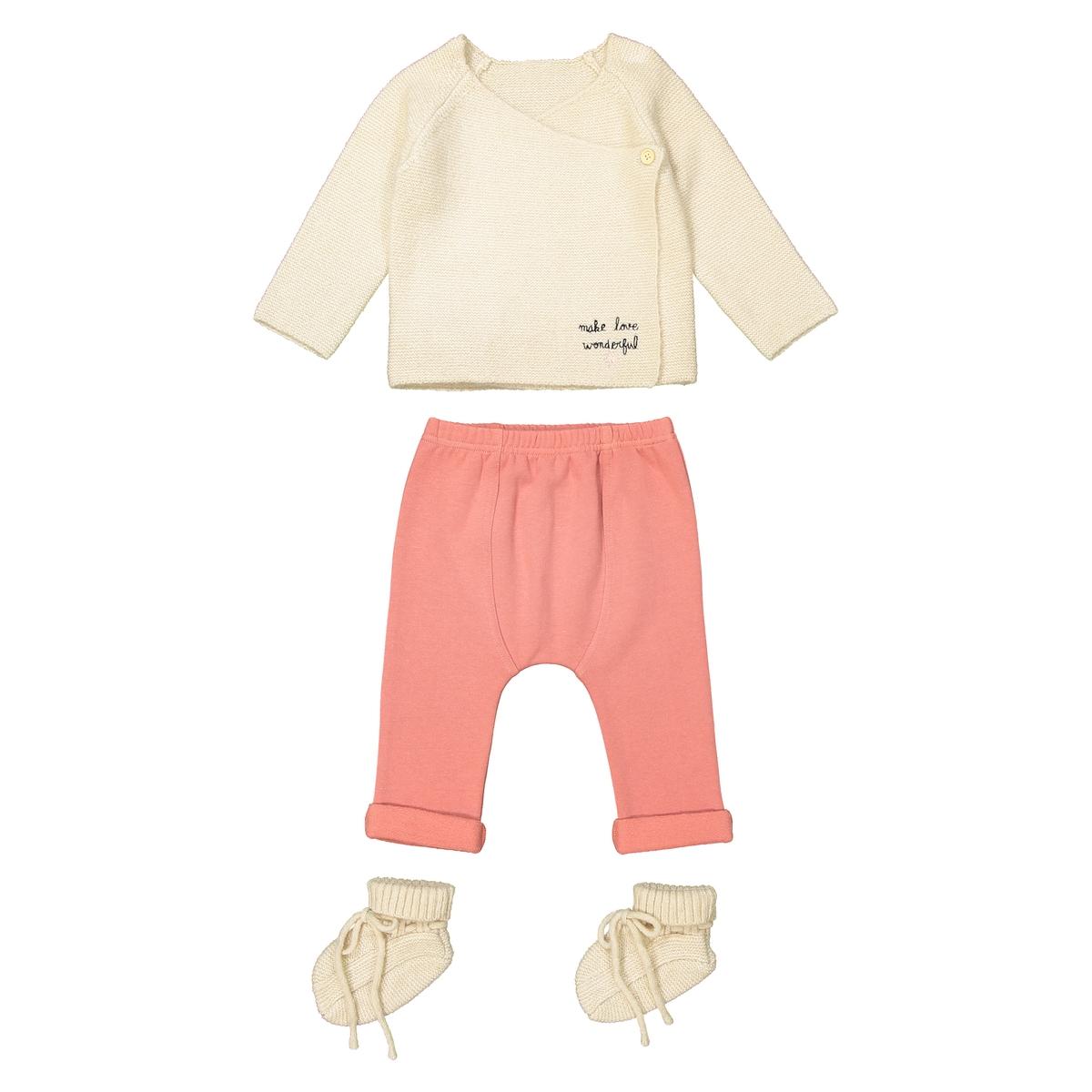 Комплект из предметов для La Redoute Новорожденных - до лет рожденные раньше срока - 45 см розовый комплект из боди для la redoute новорожденных мес года рожденные раньше срока 45 см разноцветный