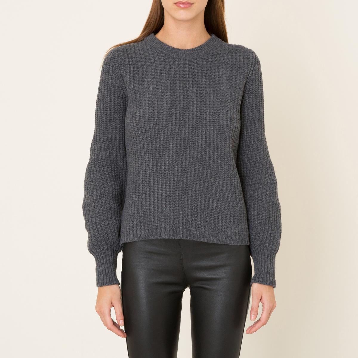 Пуловер короткий женский STANСостав и описание   Материал : 80% шерсти, 20% полиамида   Марка : MARGAUX LONNBERG<br><br>Цвет: антрацит