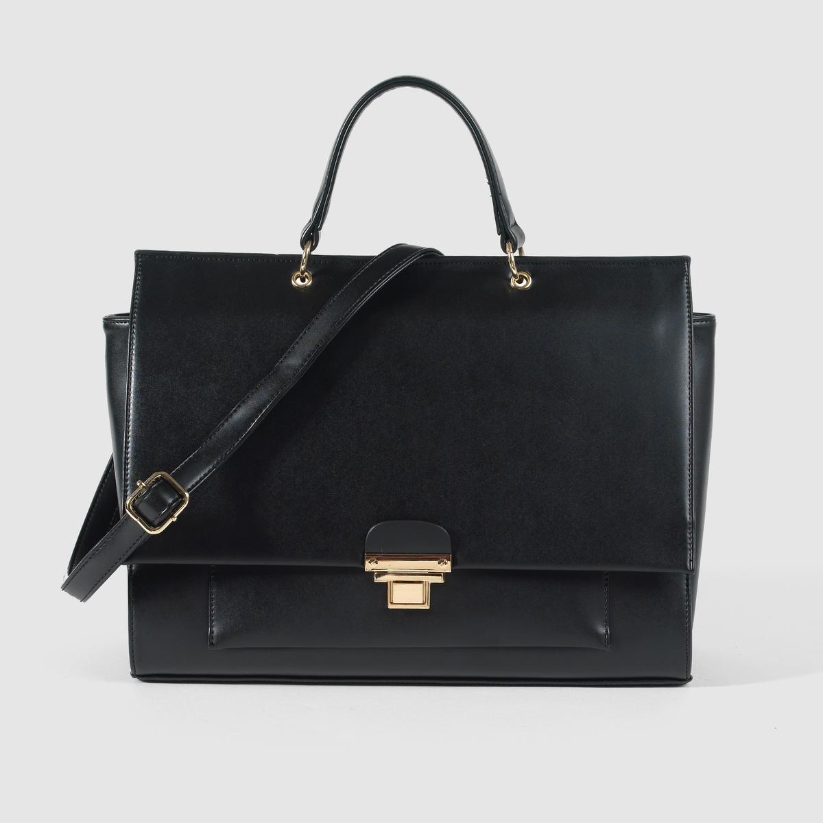 ПортфельПреимущества : прочный портфель, идеальный для ежедневного ношения, элегантный дизайн и тщательная отделка.<br><br>Цвет: черный<br>Размер: единый размер