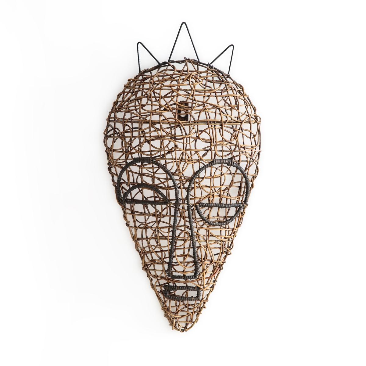 Маска африканская из плетеного ротанга, модель. 1, YanaelleМаска, модель 1, Yanaelle. Добавьте экзотическую нотку вашему декору благодаря африканской маске из плетеного ротанга на каркасе из металла. Можно сочетать с маской, модель 2, представленной на нашем сайте. Крепление к стене (винт и дюбель продаются отдельно). Размеры : Ш.29 x В.60 x Г.8 см.<br><br>Цвет: каштановый
