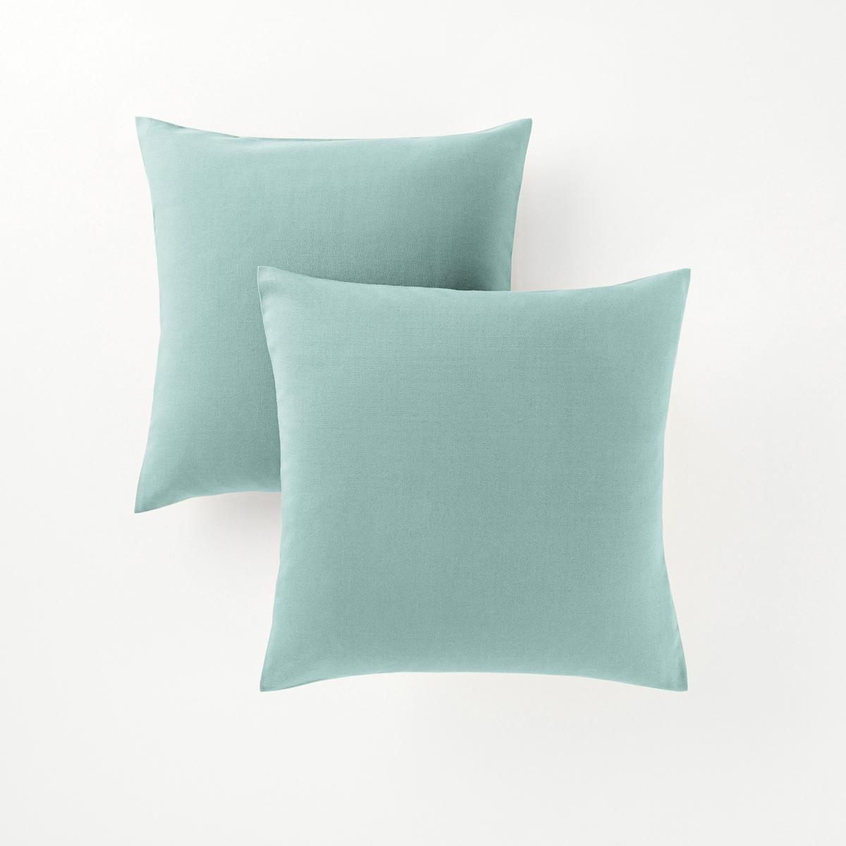 2 квадратных или прямоугольных чехла на подушки2 квадратных или прямоугольных чехла на подушки : декоративная расцветка, можно сочетать по желанию !       Характеристики 2 или прямоугольных чехлов на подушки :- Чехлы на подушки из красивой и очень прочной ткани (220 г/м?), застежка на молнии.- Гарантия расцветки : превосходная стойкость от воздействия солнечных лучей и стирок (40 °С).В комплекте 2 чехла одного цвета.                             Качество VALEUR S?RE.Подушки продаются отдельно.                                            Сертификат Oeko-Tex® дает гарантию того, что товары изготовлены без применения химических средств и не представляют опасности для здоровья человека.<br><br>Цвет: бледно-зеленый