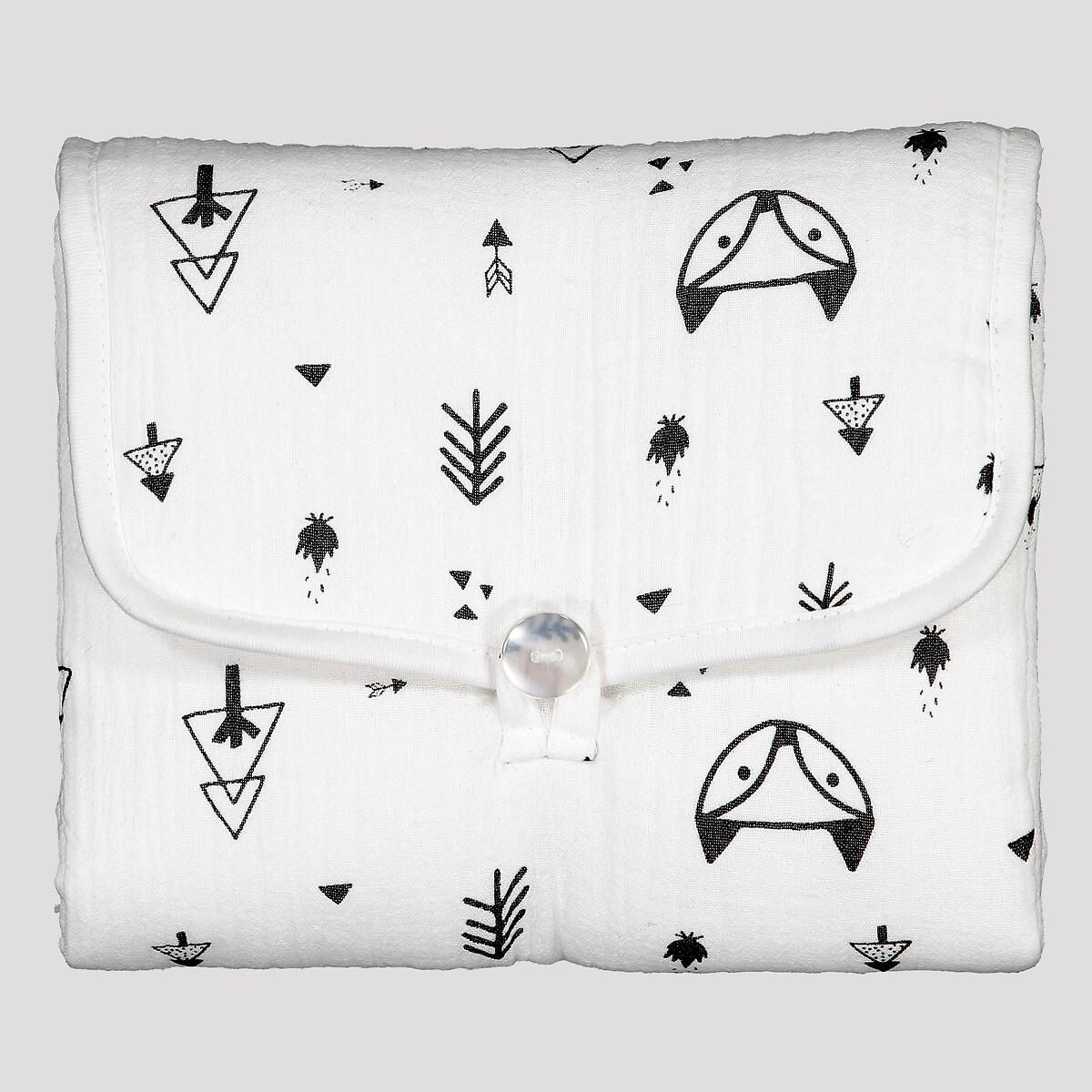цена Матрас La Redoute Для пеленания из хлопчатобумажной газовой ткани Forest camp единый размер белый онлайн в 2017 году