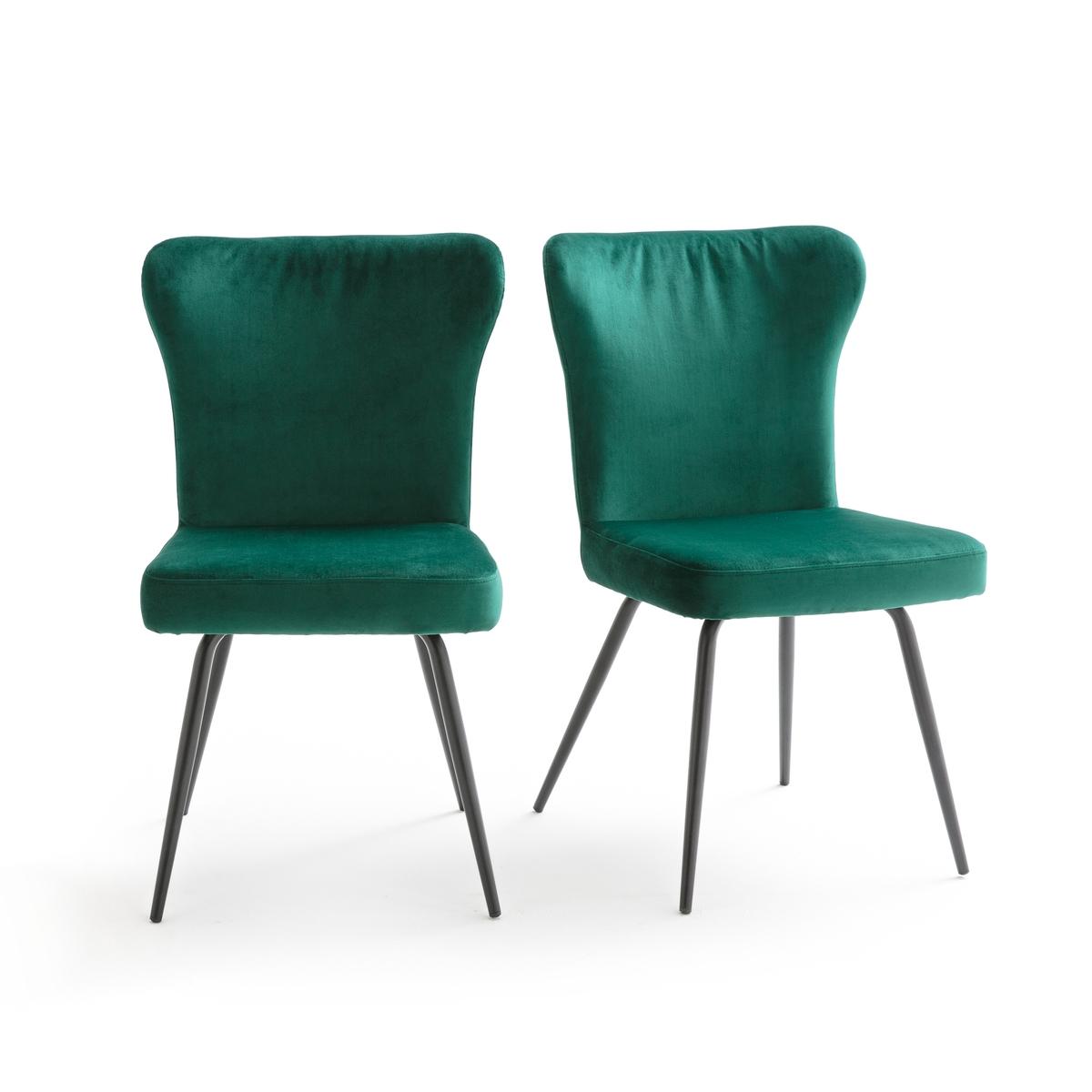 Confezione da 2 sedia in velluto vintage, LUXORE