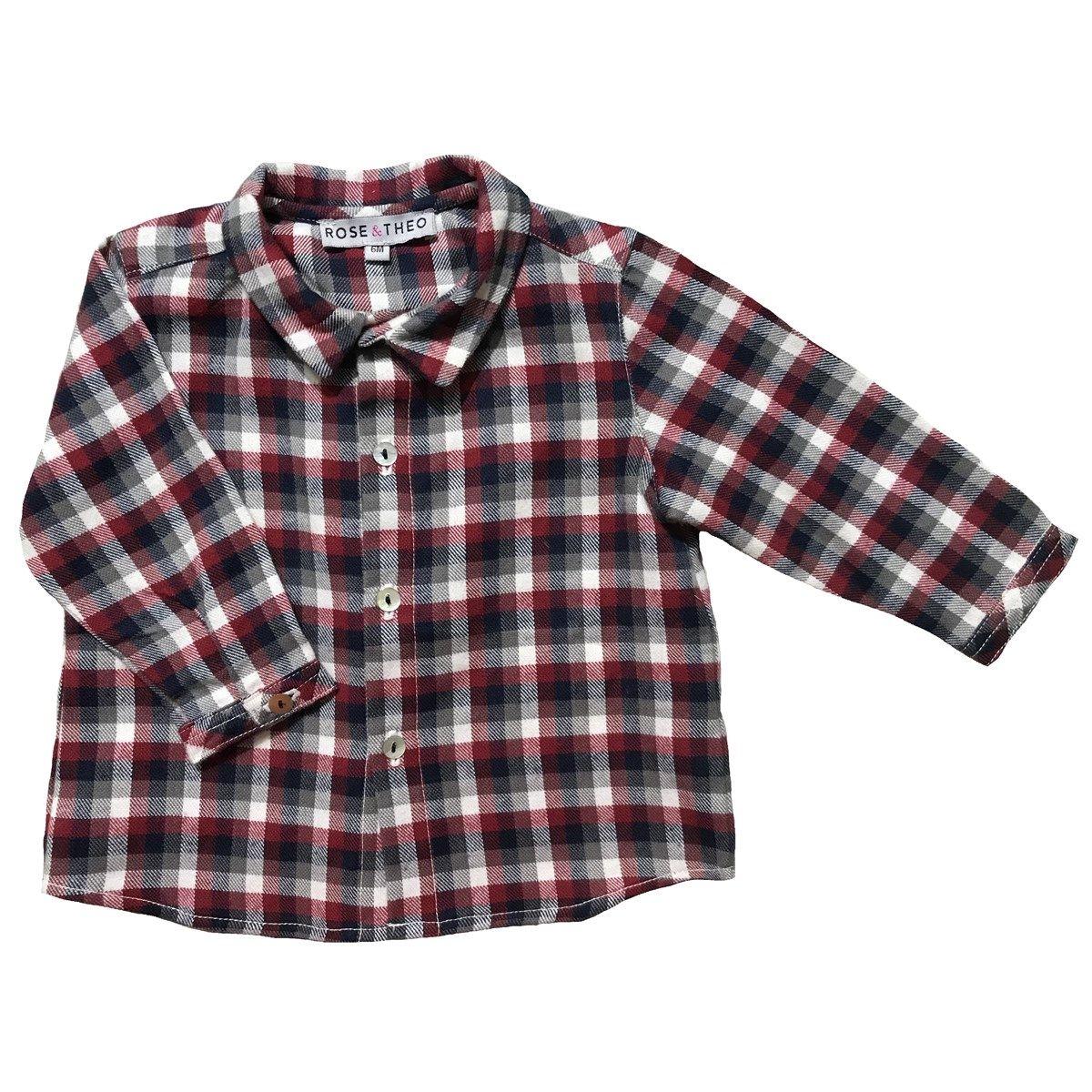 Chemise en coton à carreaux GASPARD
