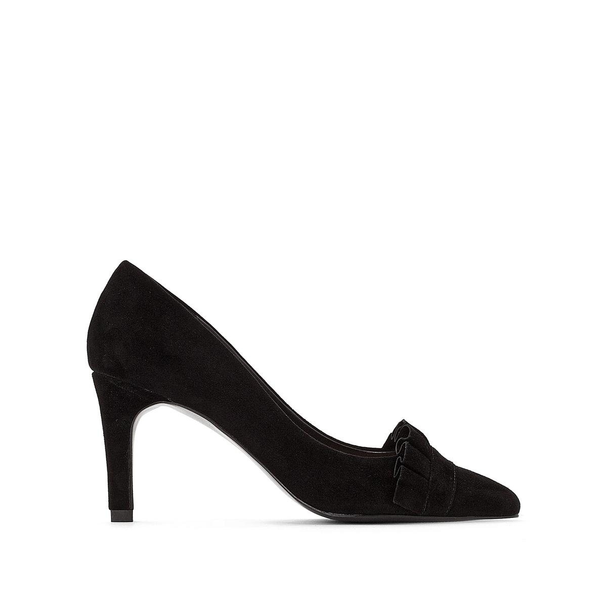Туфли на высоком каблуке из велюра с плиссировкой цены онлайн