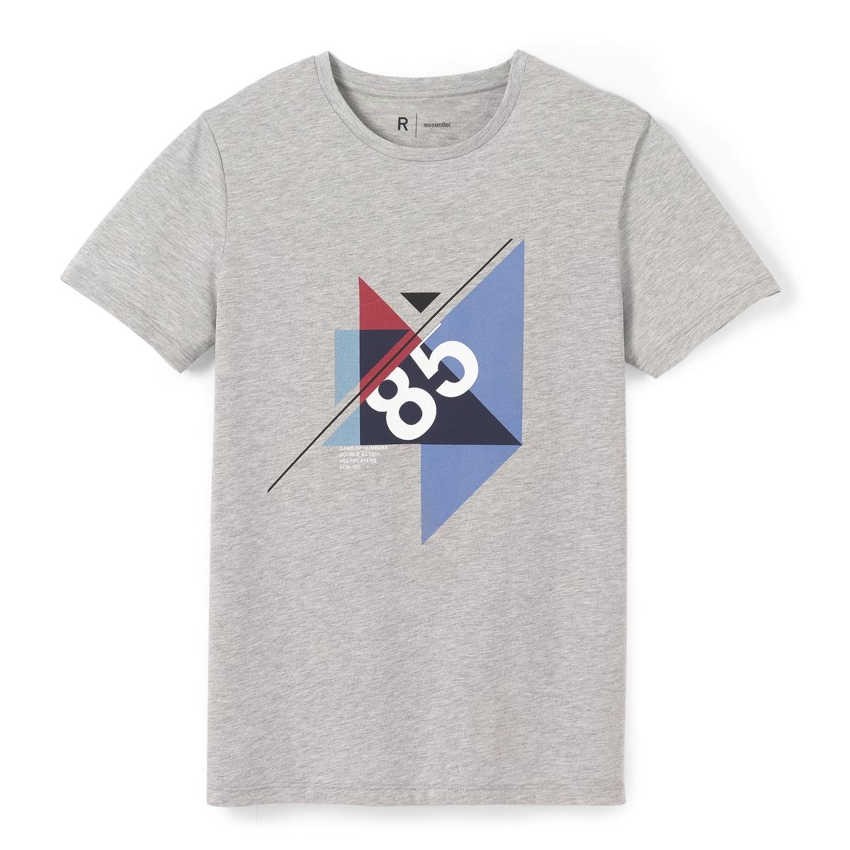 Футболка с круглым вырезом и графическим принтом ostin футболка с новогодним принтом