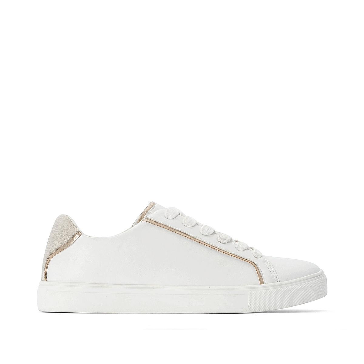 Кроссовки La Redoute — С золотыми вставками для размеров - 45 белый